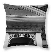 Dollhouse Black And White Throw Pillow