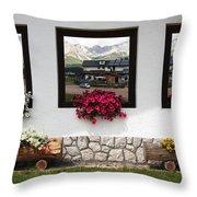 Dolomiti On Spring Throw Pillow