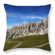Dolomiti's Panoramic Throw Pillow