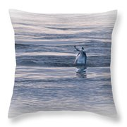 Dolphin Mullet Breakfast Throw Pillow