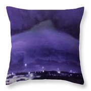 Dolphin Sky Throw Pillow