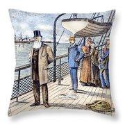 Dom Pedro II (1825-1891) Throw Pillow