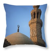Dome And Minaret Of Mosque Of Barquq Throw Pillow