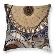 Domed Roof Of Rustem Pasa Mosque Throw Pillow