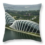 Domes Inside The Gardens By The Bay In Singapore Throw Pillow