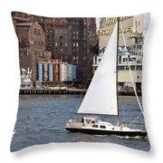Domino Sugar Sailing Throw Pillow