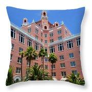 Don Cesar And Palms Throw Pillow