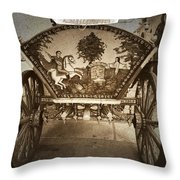 Donkey Cart Throw Pillow by Cliff Norton