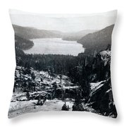 Donner Lake - California - C 1865 Throw Pillow
