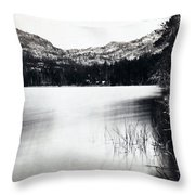 Donner Lake And Pass - California - C 1865 Throw Pillow