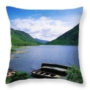 Doo Lough, Delphi, Co Mayo, Ireland Throw Pillow