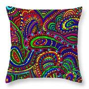 Doodle 3 Throw Pillow