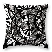 Doodle Circular  Throw Pillow