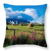 Dooega, Achill Island, County Mayo Throw Pillow