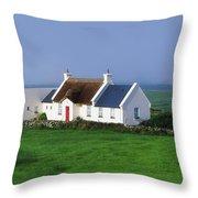 Doolin, Co Clare, Ireland Renovated Throw Pillow