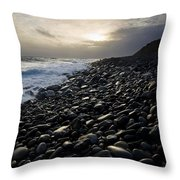Doolin, County Clare, Ireland Pebble Throw Pillow