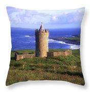 Doonagore Castle, Co Clare, Ireland Throw Pillow