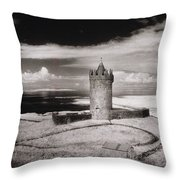Doonagore Tower Throw Pillow by Simon Marsden