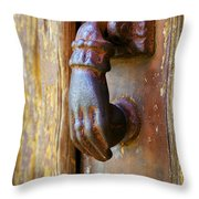 Door Knocker Throw Pillow