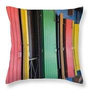 Doors Of Colors Throw Pillow