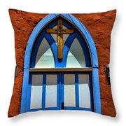 Doors To San Rafael Throw Pillow