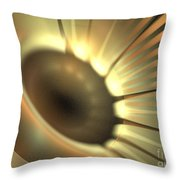 Doppler Beam Throw Pillow