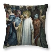 Dor�: Betrayal Of Christ Throw Pillow