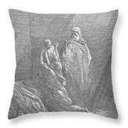 Dor�: Elijah & Widows Son Throw Pillow