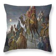 Dor�: Journey Of The Magi Throw Pillow