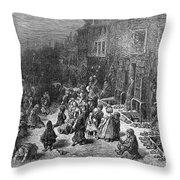 Dor�: London, 1872 Throw Pillow