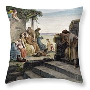 Dor�: Prodigal Son Throw Pillow