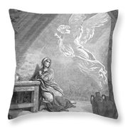 Dor�: The Annunciation Throw Pillow
