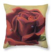Doris's Rose Throw Pillow