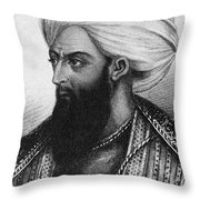 Dost Mohammad Khan Throw Pillow