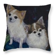 Dot And Dolly Throw Pillow