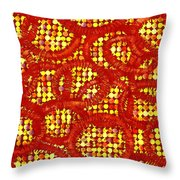 Dots And Rings Throw Pillow