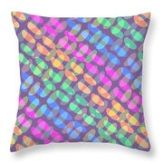 Dotted Check Throw Pillow by Louisa Knight