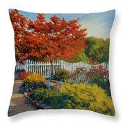 Dotti's Garden Autumn Throw Pillow