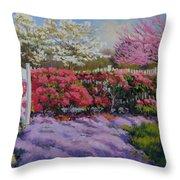 Dotti's Garden Spring Throw Pillow