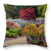 Dotti's Garden Summer Throw Pillow