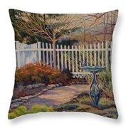 Dotti's Garden Winter Throw Pillow