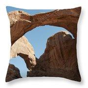 Double Arches Throw Pillow