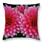 Double Dahlia Throw Pillow