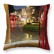 Double Decker Blur II Throw Pillow by Anna Villarreal Garbis