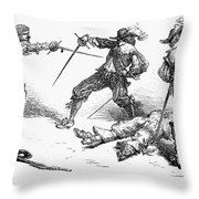 Double Duel Throw Pillow