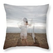 Double Image Ghost Throw Pillow