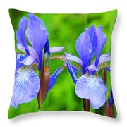 Double Iris Throw Pillow