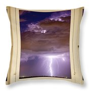 Double Lightning Strike Picture Window Throw Pillow
