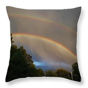 Double Rainbow Throw Pillow by Science Source