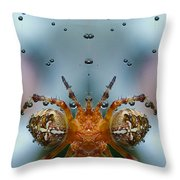 Double Spider Throw Pillow